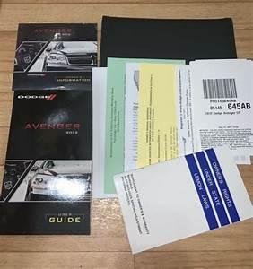 2012 Dodge Avenger Owners Manual    User Guide Oem