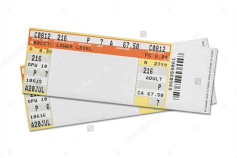 concert ticket template free 37 ticket templates