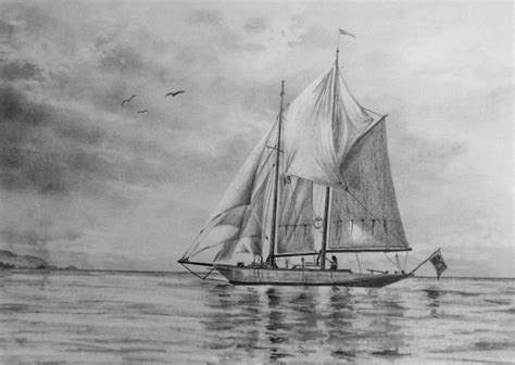 Boat Crashing Drawing class how to draw a sailing boat paint