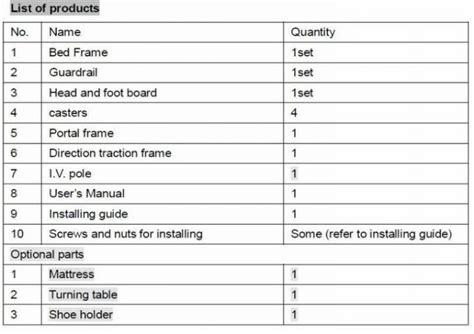 lit orthopedique reglable de traction de lit de cadre de