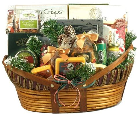meat and cheese gift basket christmas time on a farm by freshfooddaily