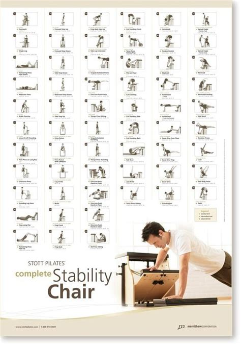 stott pilates wall chart complete stability