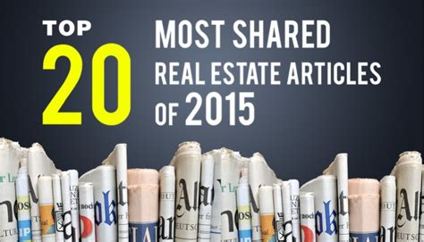 Top 20 Most Shared Real Estate Articles Of 2015