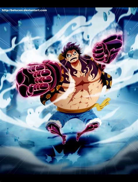 piece luffy gear fourth  belucen  deviantart