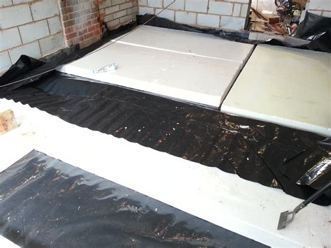 insulated floors laying an insulated concrete floor diy my extension