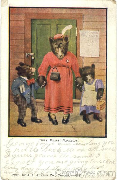 how to write a letter to someone you like busy bears vacation j i austen co artist signed 38203