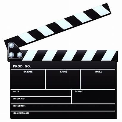 Production Film Clipart Clapboard Tv Director Clip