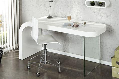 bureau verre blanc bureau design blanc laque et verre timmen