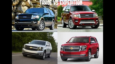 ford expedition   chevrolet tahoe youtube