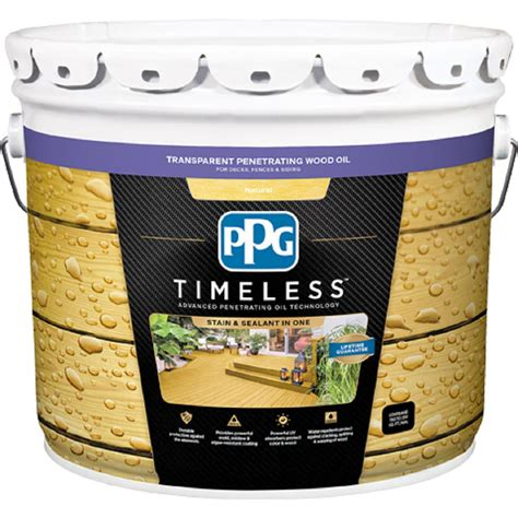 ppg timeless  gal tpo  natural transparent penetrating