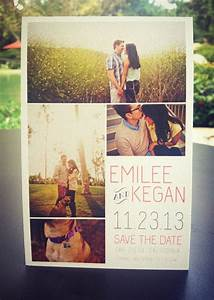 wedding save the date postcard multiple pictures With wedding invitations with multiple pictures