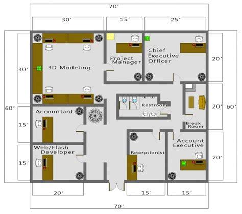 Sample Residential Building Autocad 2D Plan - House Floor