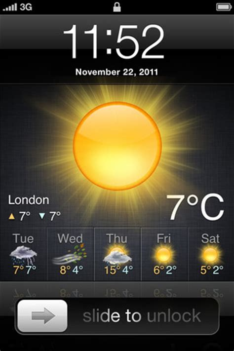weather on iphone lock screen add weather conditions widget to your lock screen with