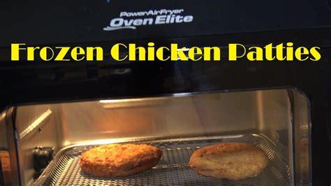chicken patties fryer air oven frozen power elite heating