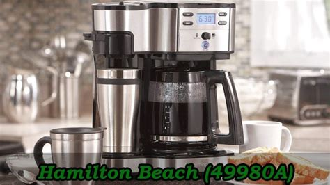 A thorough cleaning entails washing the carafe and filter, and empty one pt. Hamilton Beach 49980A Single Serve Coffee Maker - Expert ...
