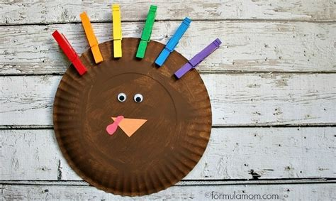 simple paper turkey craft rainbow paper plate turkey craft the simple parent 5430