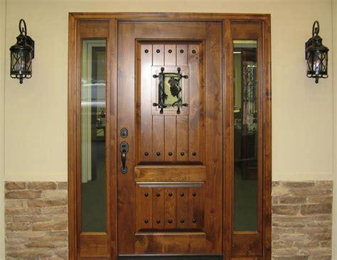knotty alder entry door  side lite tuscany design
