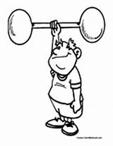 Weightlifting Coloring Pages Colormegood Sports sketch template