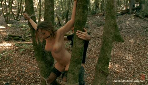 bound to a tree and mouth gagged fucking outdoors emem6