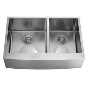 farmhouse apron front stainless steel 36x9 875x10 0 hole