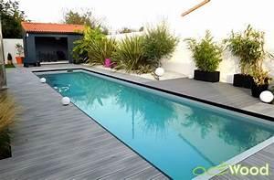 plage de piscine composite style bord de mer moderne With carrelage plage piscine gris 11 terrasse bois entourage piscine nos conseils