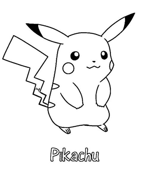 what color is pikachu pikachu clipart coloring page printable pencil and in