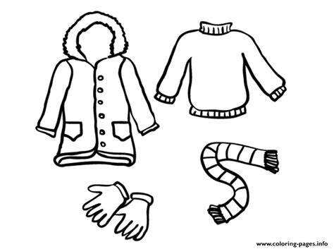 Coloring Clothes by Winter Clothes S Freecc0b Coloring Pages Printable