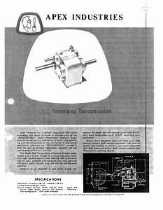 Apex Model 800 Forward Reverse Transmission Parts Manual
