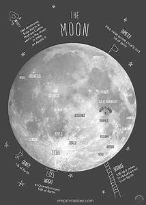 Map Of The Moon Printable Poster Free Down Load Small