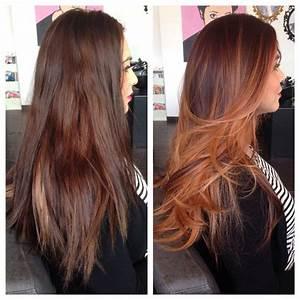 Ombré Hair Cuivré : best 20 copper balayage ideas on pinterest balayage ~ Melissatoandfro.com Idées de Décoration