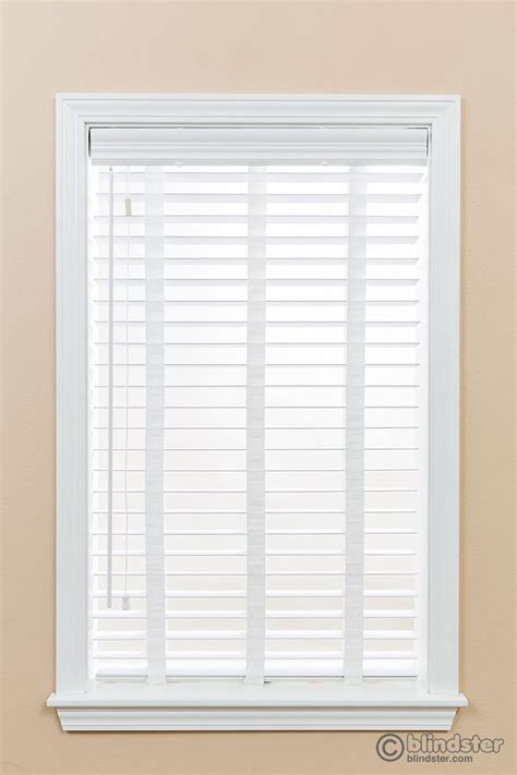 Faux Window Blinds by 2 Quot Premium Faux Wood Blinds With Cloth And Wand