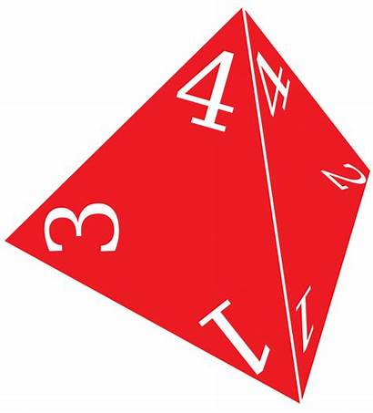 Sided Die D4 Four Dice Rolling Probability