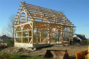 26' x 36' Timber Frame Barn - Black Dog Timberworks