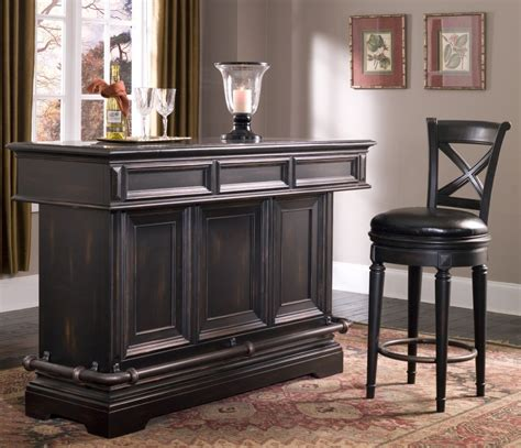 Small Home Bar Furniture by Bar Stool Seating With Black Leather And