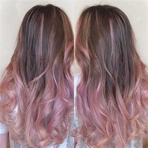 Pink And Purple Highlights On Brown Hair Hair Coloring