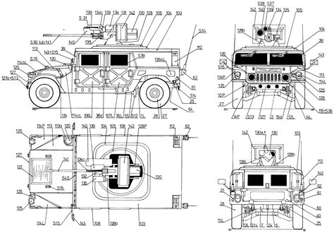 car blueprints hummer  bushmaster blueprints vector