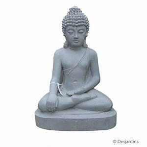 Statue Bouddha Interieur : statue de bouddha assis 60 cm desjardins ~ Teatrodelosmanantiales.com Idées de Décoration