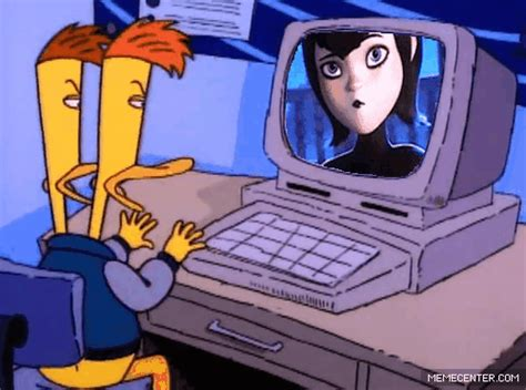 Charles And Mambo Talk To Mavis On The Computer