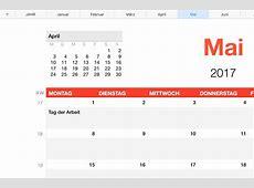 Numbers Vorlage Kalender 2017 Numbersvorlagende