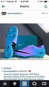 Shoes: purple ombre mercurial cleats - Wheretoget