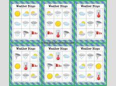 Free printable Weather Bingo Gift of Curiosity