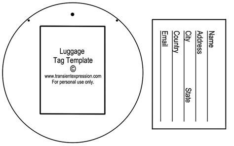 luggage tag template  commercewordpress