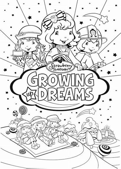 Strawberry Coloring Shortcake Dreams Pages Growing Friends