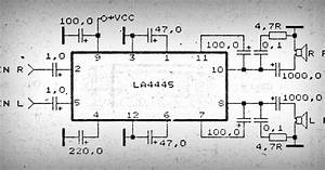 Car Amplifier With Ic La4445
