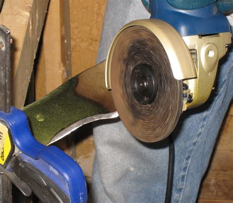 How To Sharpen A Lawn Mower Blade Using A Grinder (example