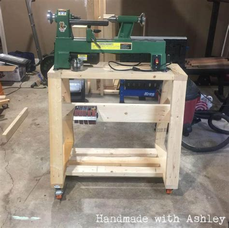 diy mobile lathe stand handmade  ashley