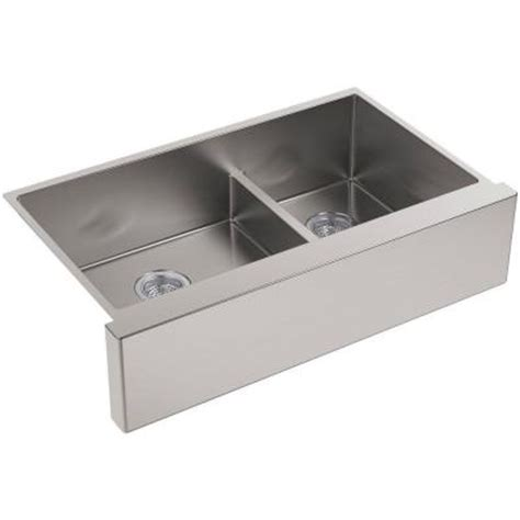 kohler strive sink 24 kohler strive undermount apron front stainless steel 36 in