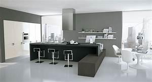 la cuisine ouverte le nouveau salon inspiration With meuble salon noir et blanc 12 cuisine leicht et lineaquattro