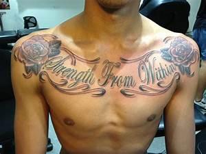 chest writing tattoos - Google-søk | Hand tattoo ...