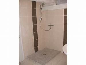 Carrelage Et Salle De Bain : carrelage salle de bain beige et chocolat ~ Melissatoandfro.com Idées de Décoration